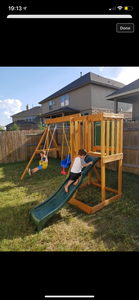 """Convertible"" Custom Swing Set Build in Round Rock, TX"