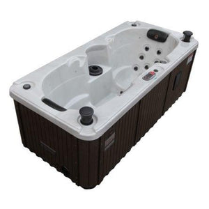 Canadian Spa Co Yukon Plug & Play 2-Person 16-Jet Hot Tub w/ Waterfall