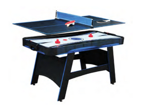 BANDIT 5-FT AIR HOCKEY TABLE W/ TABLE TENNIS TOP