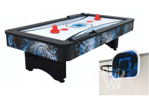 CROSSFIRE 42-IN TABLETOP AIR HOCKEY TABLE W/ MINI BASKETBALL GAME