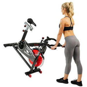 BELT DRIVE INDOOR CYCLING BIKE WITH HEAVY 49 LB FLYWHEEL