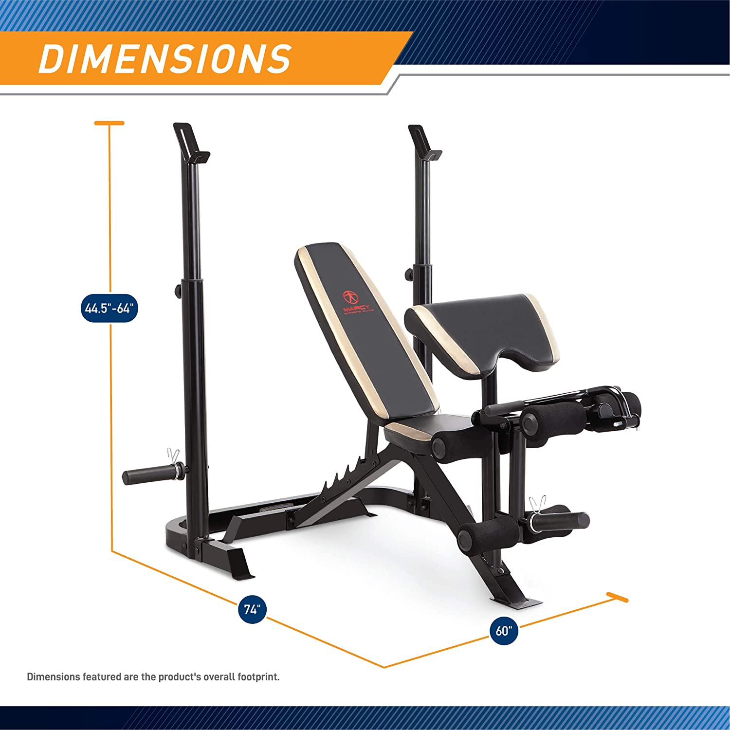 Adjustable Olympic Weight Bench with Leg Developer and Squat Rack