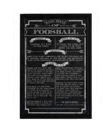 FOOSBALL GAME RULES WALL ART