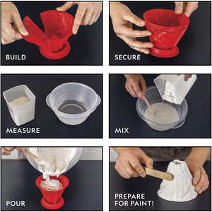National Geographic Volcano Science Kit – Build an Erupting Volcano with this Volcano Kit for Kids, Multiple Educational Eruption Experiments to Try, Great for Science Projects