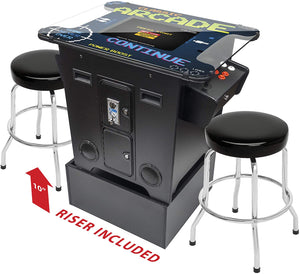 Full-Size Commercial Grade Cocktail Arcade Machine | Trackball | 412 Classic Games