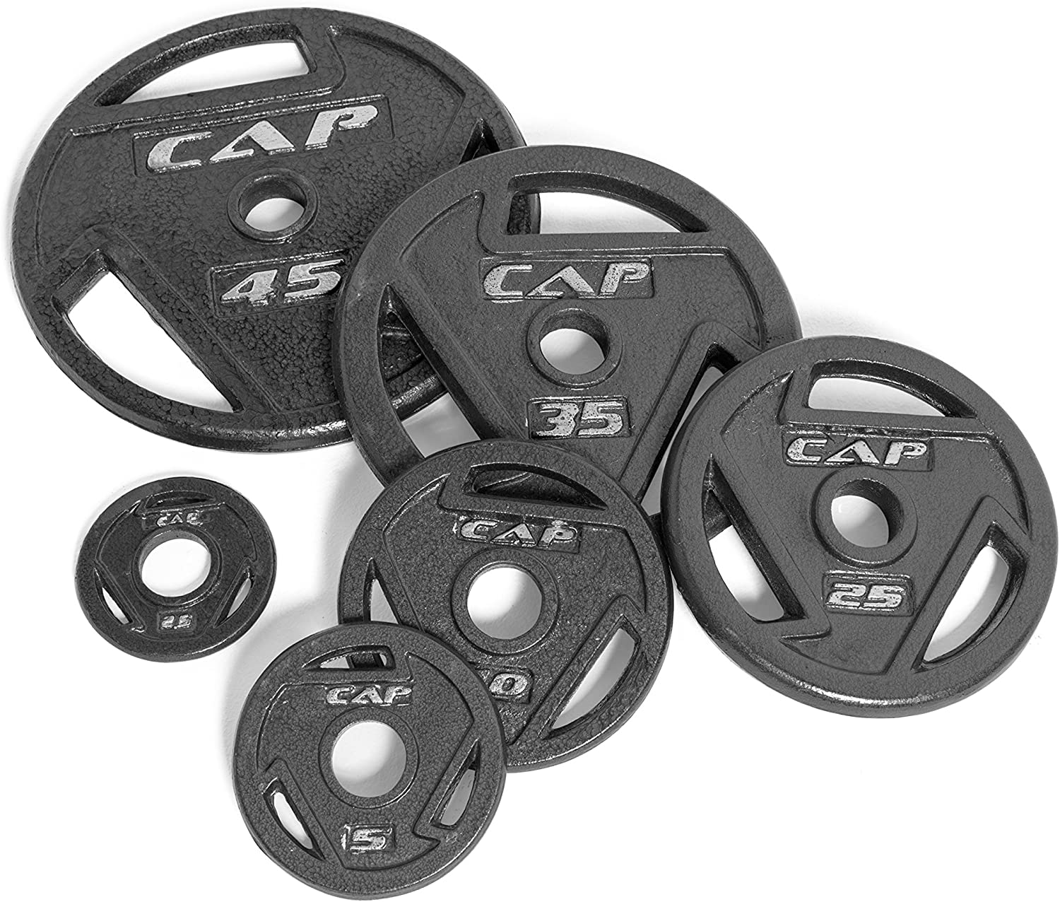 CAP  2-Inch Olympic Grip Plate, Various Sizes
