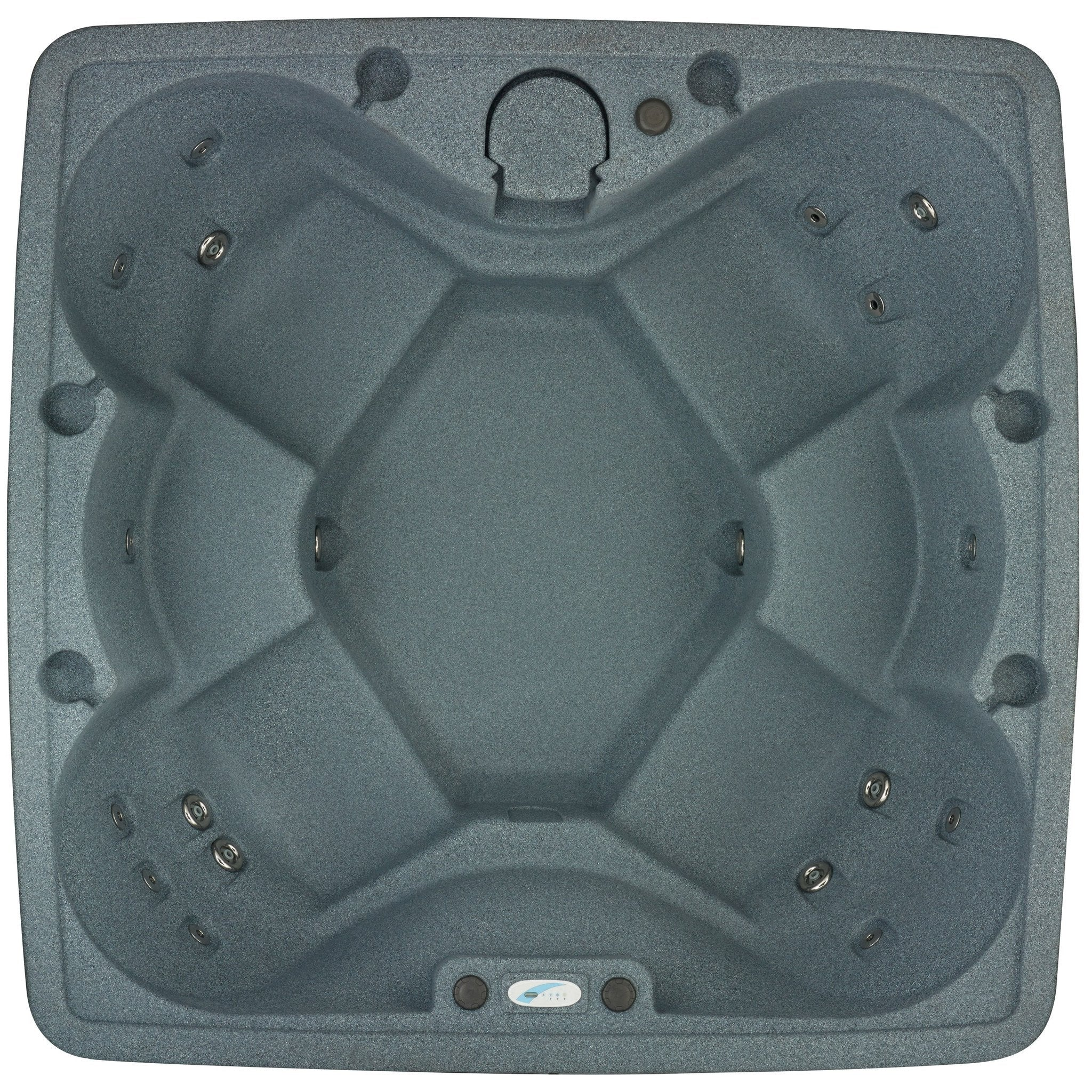 AR-600 6-Person Spa with 19 Jets in Stainless Steel and Easy Plug-N-Play and LED Waterfall
