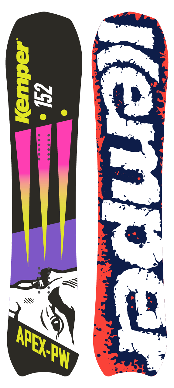 Powder Snowboard - Kemper Apex 1990/91 by Kemper Snowboards