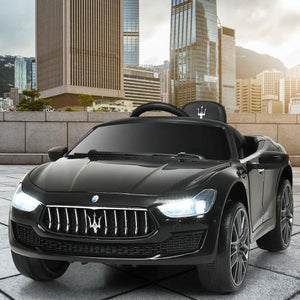 12 V Remote Control Maserati Licensed Kids Ride on Car-Black by Bigwheelsusa