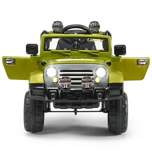 12 V Kids Ride on Truck with MP3 + LED Lights-Green by Bigwheelsusa