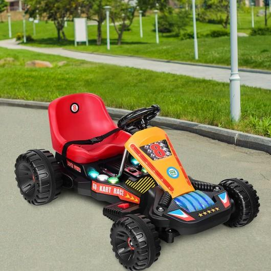 4 Wheels Electric Powered Go Kart Kids Ride on Car-Red by Bigwheelsusa