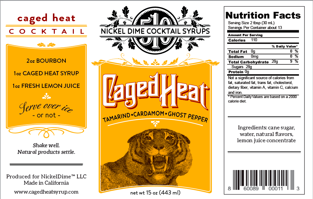 One Case of Caged Heat cocktail syrup (12 Bottles) by NickelDime LLC