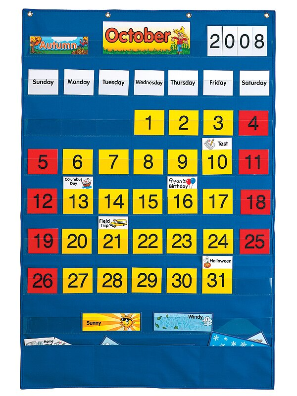 Calendar Educational Wall Pocket Chart