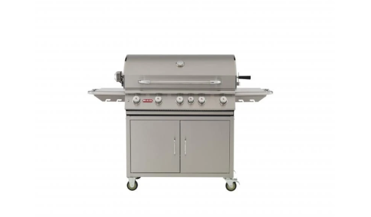 "Bull Cart Complete, 38"" Brahma, NG 5 Burner Lights, Rotis & Rotis Burner 55001"