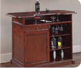 RIDGELINE 5-FT HOME BAR SET WITH STORAGE