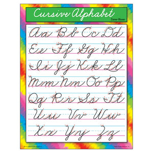 Cursive Alphabet Educational Chart