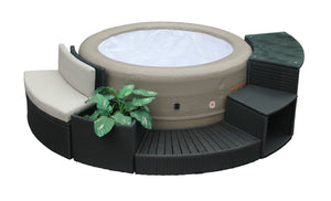 Round Spa Surround Furniture 5 Piece Entertainment Package