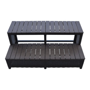 Wicker Spa Step for 86 inch Spas