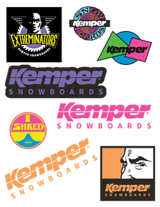 Kemper Snowboards Sticker Pack 24-Piece Assorted by Kemper Snowboards