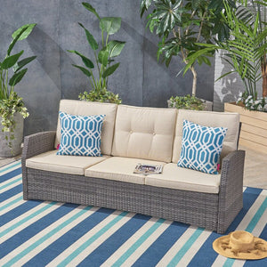 Loganville Patio Sofa with Cushions