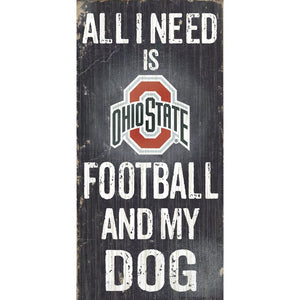 NCAA Football and My Dog Textual Art Plaque