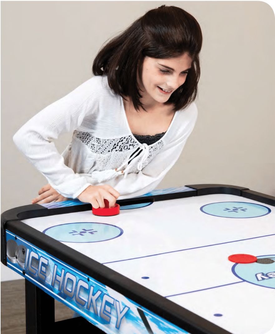 FACE-OFF 5-FT AIR HOCKEY TABLE W/ ELECTRONIC SCORING