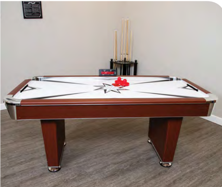 MIDTOWN 6-FT AIR HOCKEY TABLE W/ ELECTRONIC SCORING