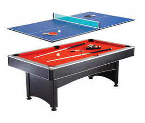 MAVERICK 7-FT POOL TABLE WITH TABLE TENNIS TOP