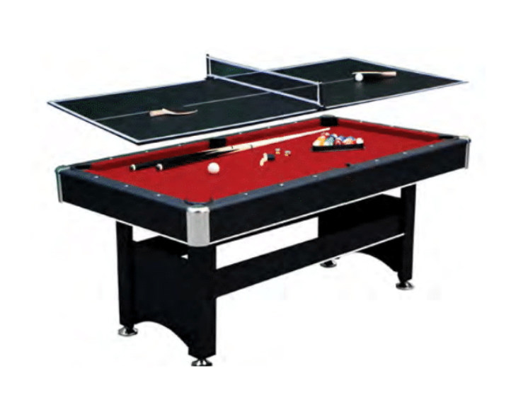 SPARTAN 6-FT POOL TABLE W/ TENNIS TABLE TOP