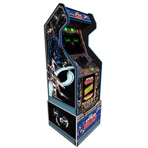 Star Wars Arcade Machine with 3000 Games (Pac Man, Ms. Pac Man, Galaga, Tetris and many more) PLUS a Bonus of 50 3D Games. Includes Riser and Commemorative Stool! (Huntsman Farms Exclusive)