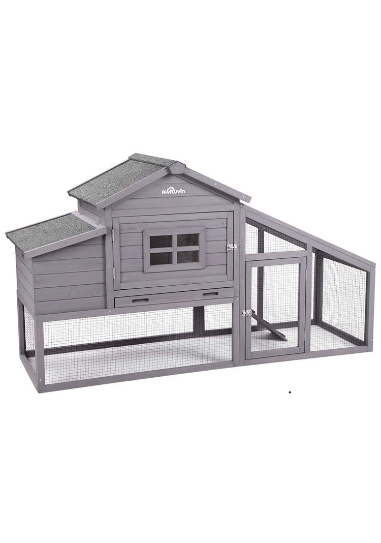 "68"" Chicken Coop With Hen House"