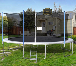 16' Backyard Outdoor Trampoline w Basketball Hoop