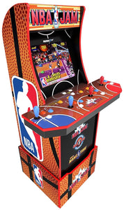 NBA Jam Arcade Machine with 3000 Games (Pac Man, Ms. Pac Man, Galaga, Tetris and many more) PLUS a Bonus of 50 3D Games. Includes Riser and Commemorative Stool! (Huntsman Farms Exclusive)