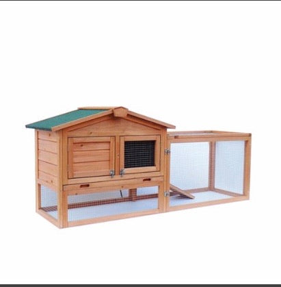 "61"" Waterproof Two-Tier Wooden Chicken Coop"