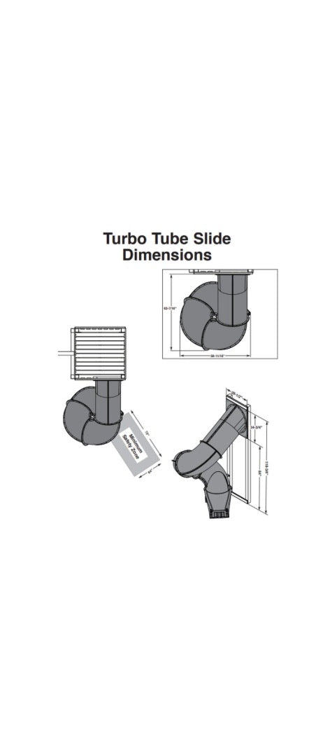 Tube Slide for 7 foot deck
