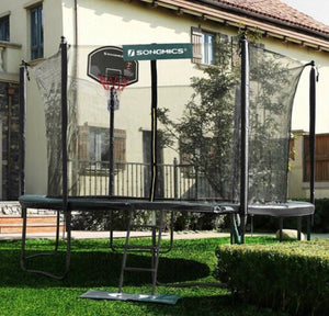 15' Trampoline with Basketball Hoop