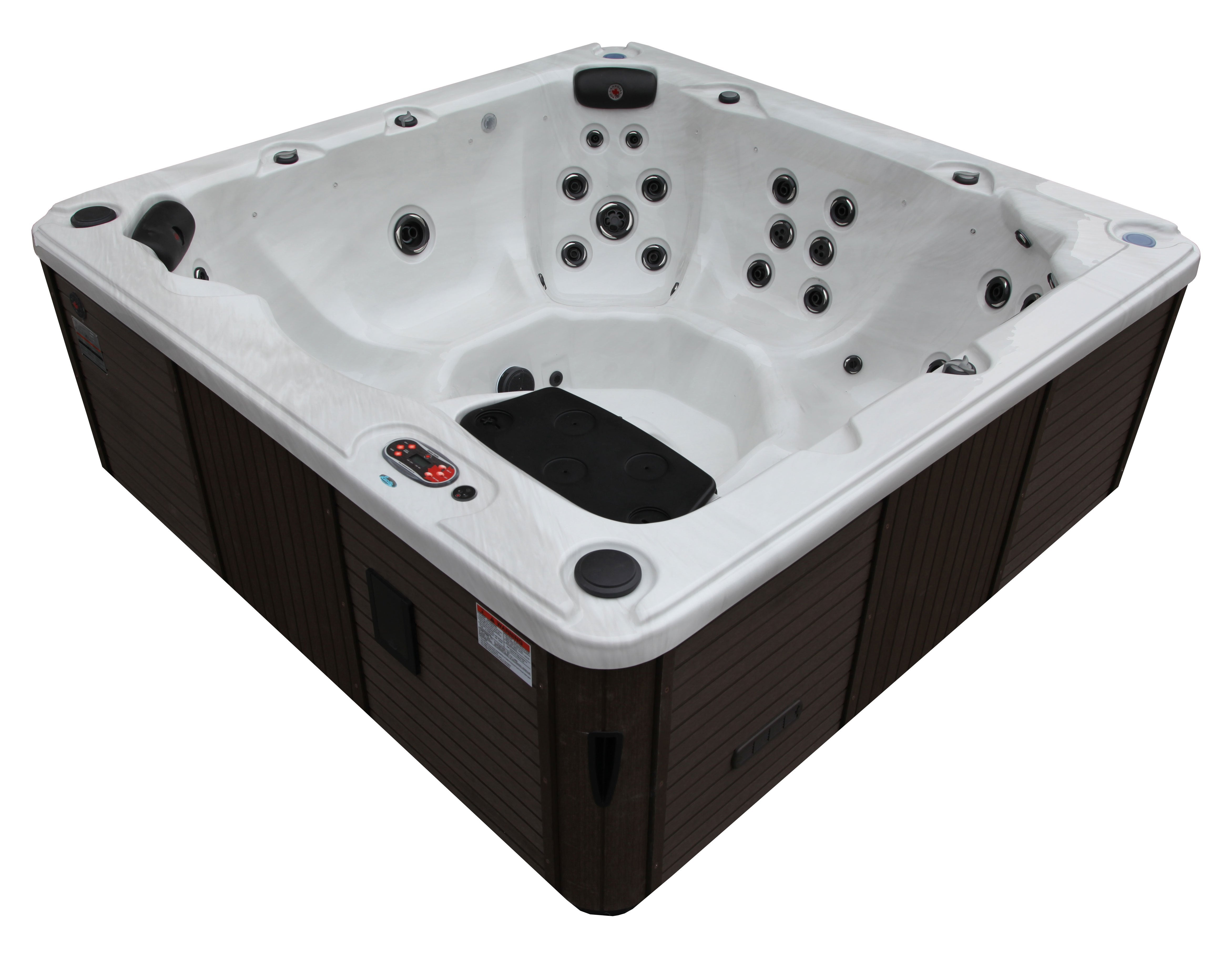 Canadian Spa Co Victoria 7-Person 44-Jet Hot Tub with Backlit Waterfall