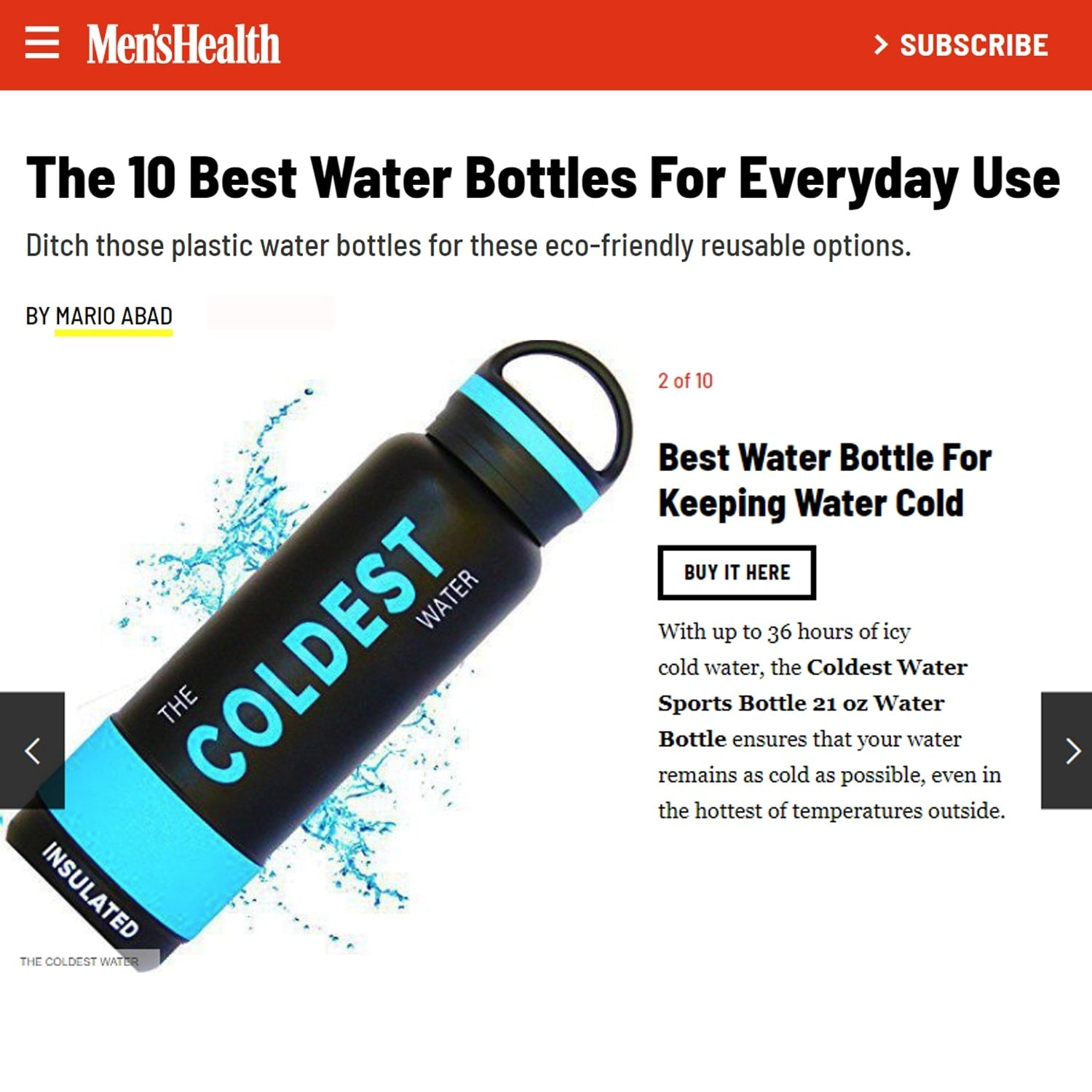 Coldest 21 oz Sports Bottle
