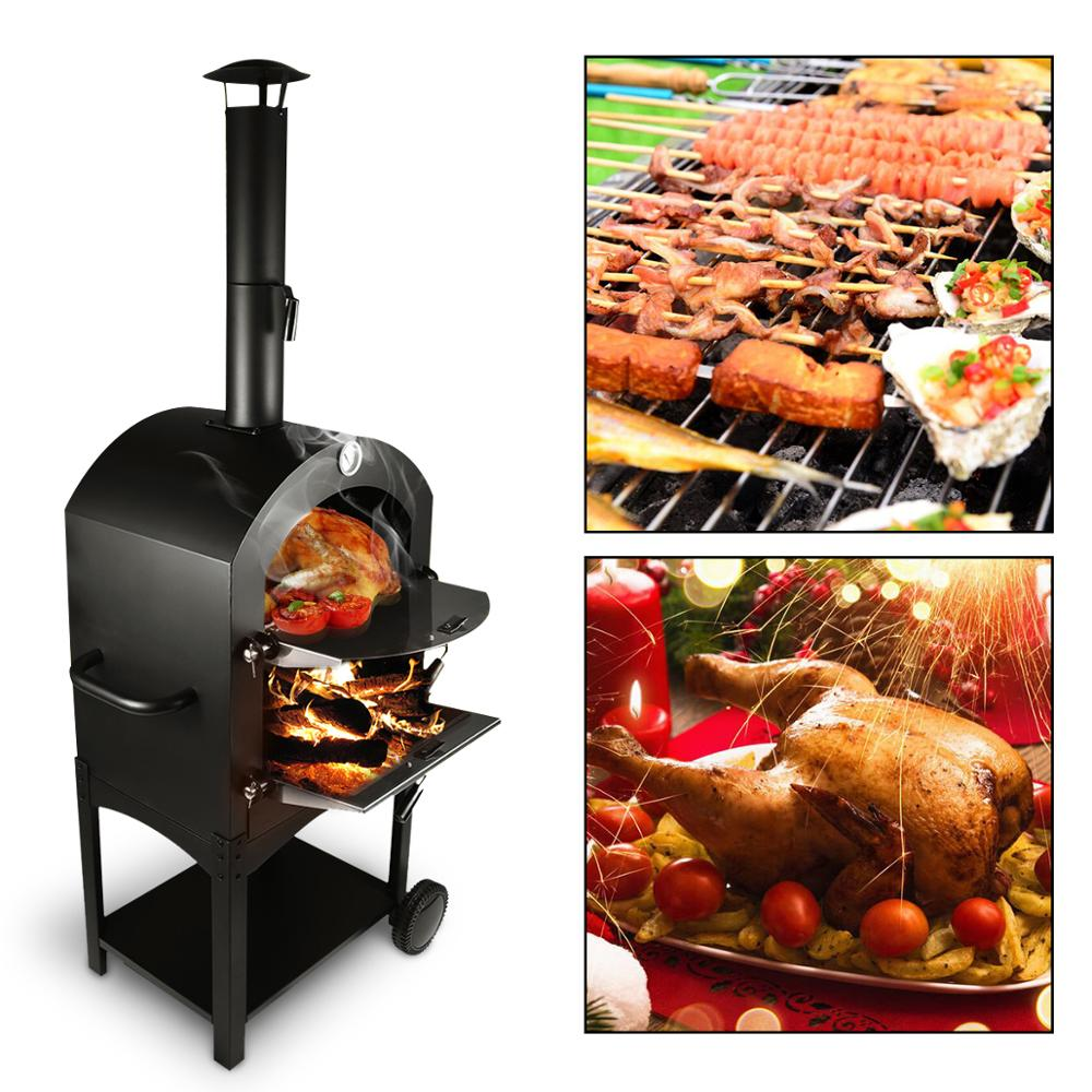 Outdoor Stainless Steel Pizza Oven Grill Wood Fired Cooker