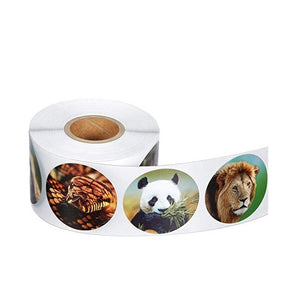 500pcs/roll Zoo Animals Cartoon Stickers For Education