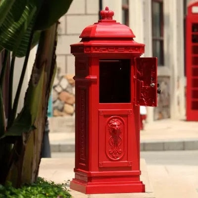 Aluminium Alloy Upright Metal Post Mail And Letters Box