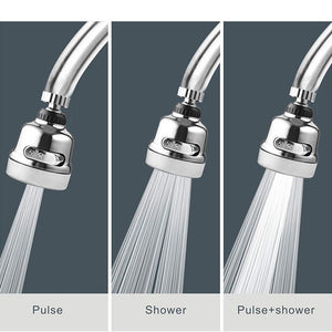 Rotatable Sprayer Anti Splash Tap Booster Shower Head