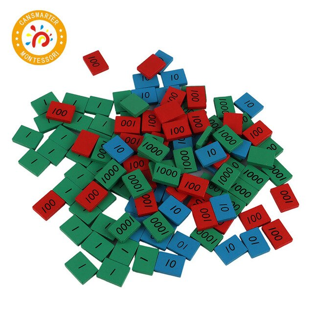 Montessori Educational Materials Wooden Toys Math Stamps