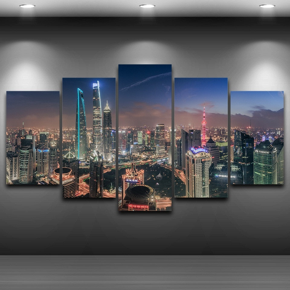 Canvas Poster Wall Art Home Decor For Living Room Frame 5 Pieces