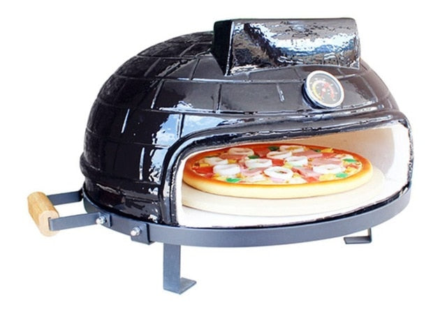21inch Ceramic BBQ Grill And Outdoor Wood Burning Pizza Oven