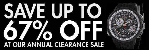 Save Up To 67% Off At The Annual Clearance Sale! - WatchCo.com