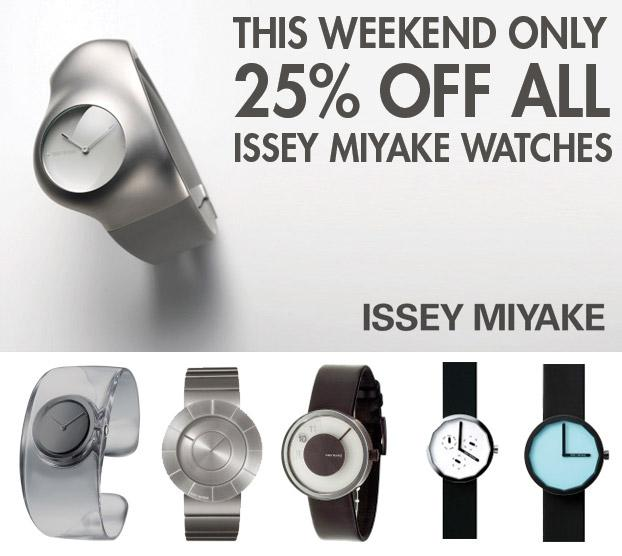 Flash Sale: 25% Off all Issey Miyake Watches - This Weekend Only - WatchCo.com