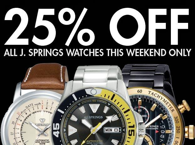 25% Off J. Springs Watches - WatchCo.com