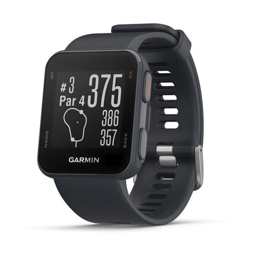 Garmin Approach S10 Unisex Granite Blue Silicone Band Black Digital Dial GPS Golf SmartWatch - 010-02028-02