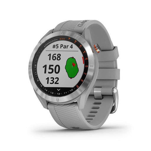 Garmin Approach S40 GPS Unisex Powder Gray Silicone Band Digital Dial Golf Smartwatch - 010-02140-00 - WatchCo.com